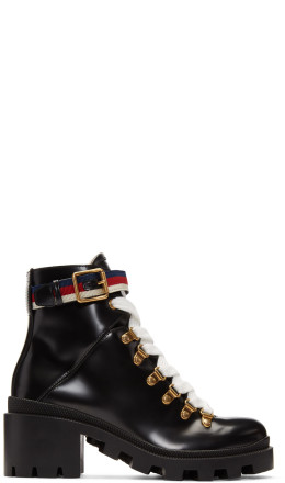 Gucci - Black Lug Sole Trip Hiking Boots