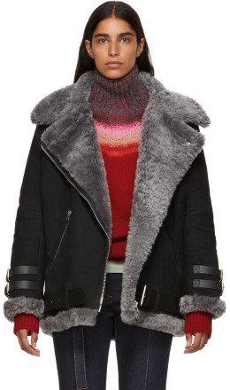 Acne Studios - Black Suede & Shearling Velocite Jacket