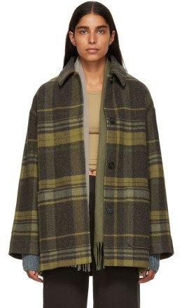 Acne Studios - Brown & Bronze Four-Button Coat