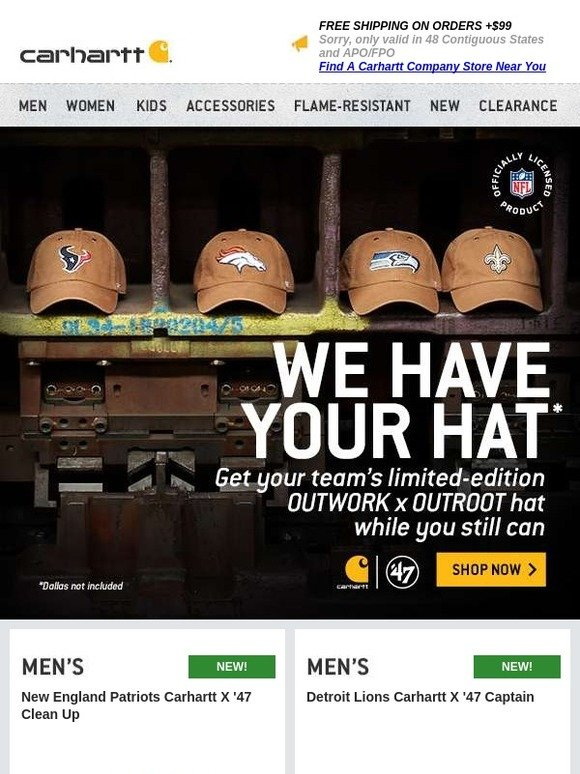 Carhartt  We have your team s hat - do you   283ebaec7