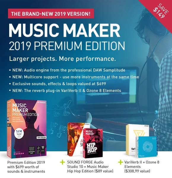 MAGIX Software: The BRAND NEW Music Maker 2019 Premium Edition: For