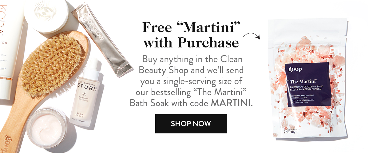 "Free ""Martini"" with Purchase"