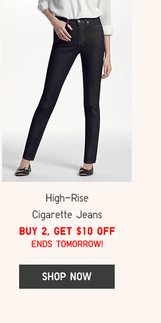 HIGH-RISE CIGARETTE JEANS - BUY 2, GET $10 OFF
