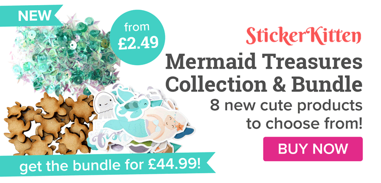 NEW Sticker Kitten Mermaid Treasures Collection!