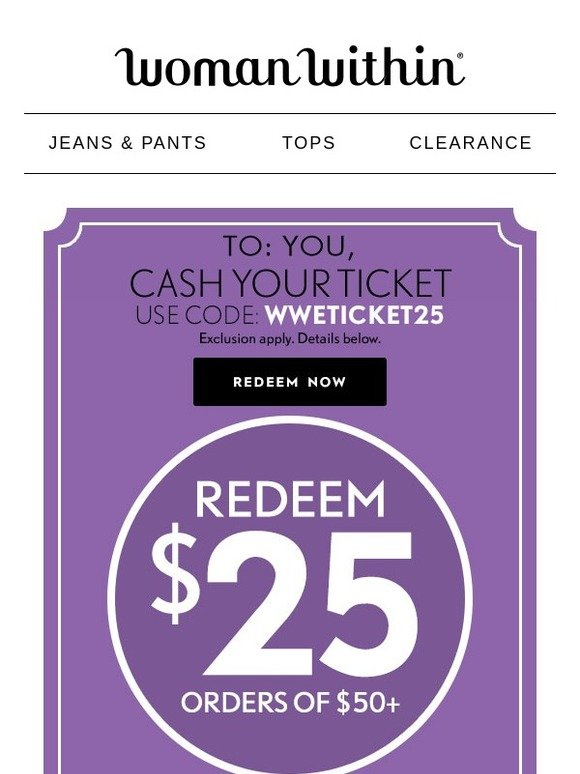 Woman Within: Your $25 Redemption Code Expires Tonight | Milled
