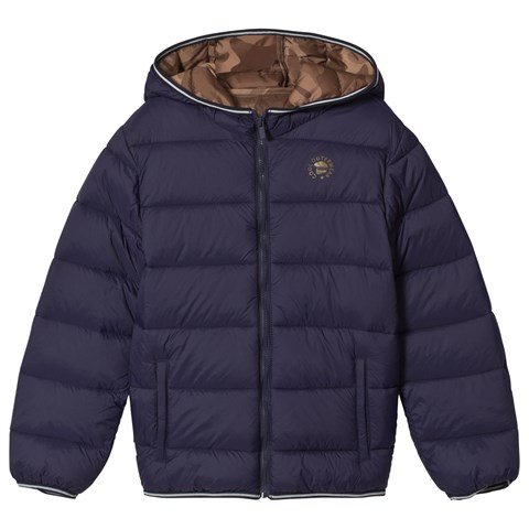 Mayoral Navy Lightweight Hooded Puffer Jacket