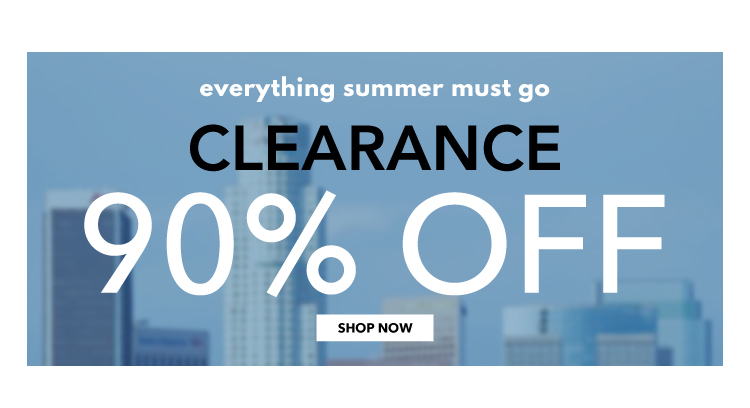 Shop Clearance up to 90% off
