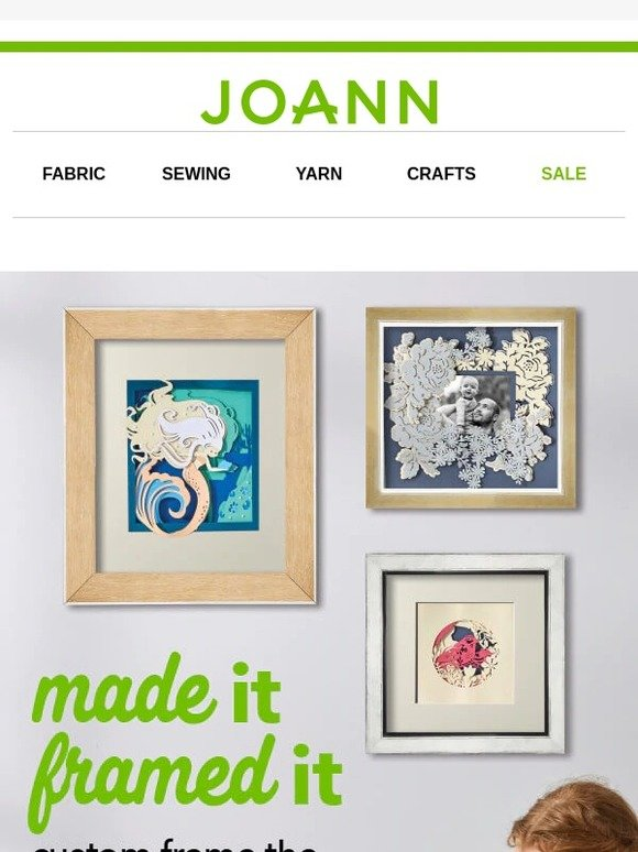 Jo-Ann Fabric and Craft Store: Check out our Custom Framing ...
