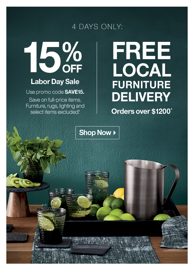 Super Crate And Barrel The Labor Day Weekend Sale Starts Now Beutiful Home Inspiration Xortanetmahrainfo