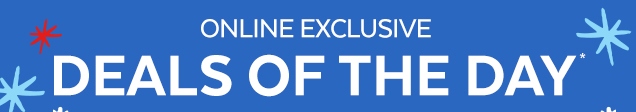 Online exclusive   Deals of the day