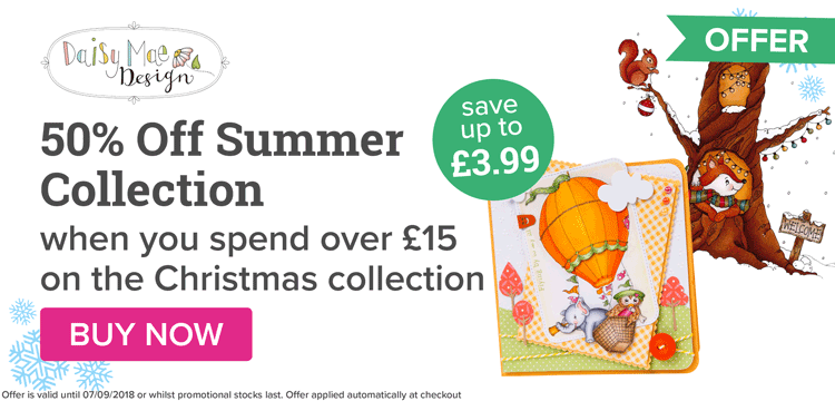 50% Off Summer Collection when you spend over 15 on the Christmas Collection!