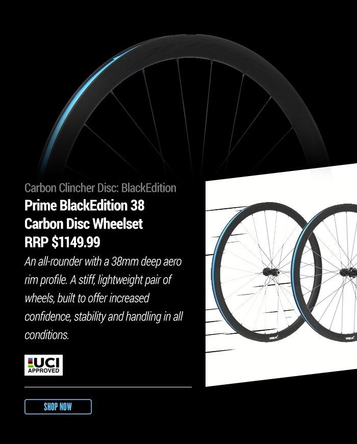 Carbon Clincher Disc: BlackEdition
