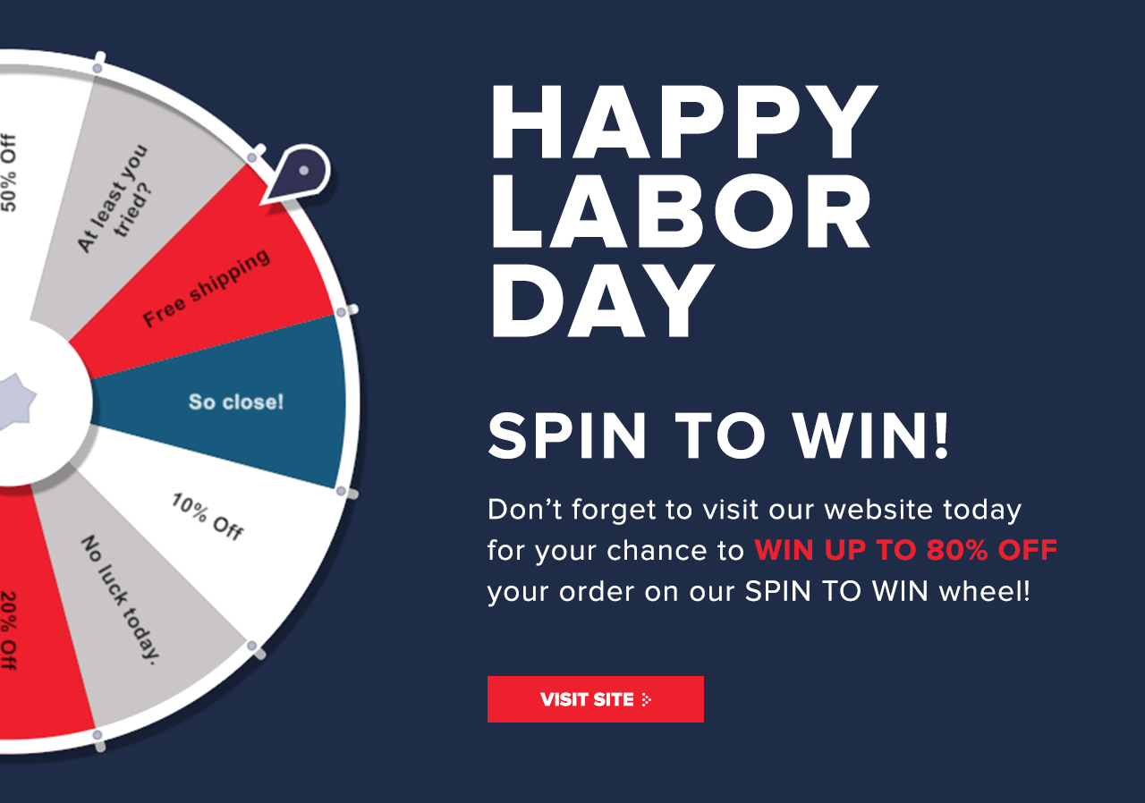 ZIzo WIreless: Happy Labor Day  Spin to win today! | Milled
