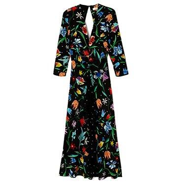 Rixo London ROSE BACKLESS V-NECK DRESS $450.00