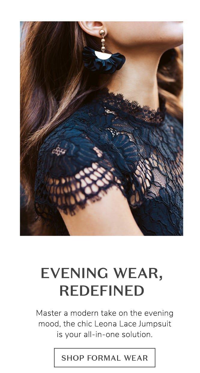 Evening wear, redefined
