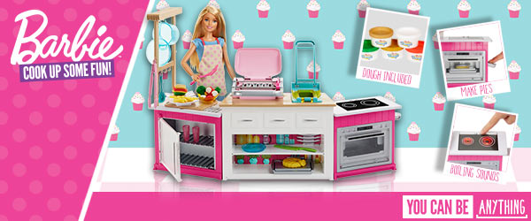 Barbie Ultimate Kitchen Playset with Doll and Accessories