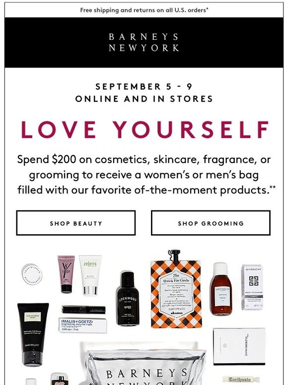 d792e1aed0 Barneys New York  The Fall Love Yourself Beauty Event Starts Now ...