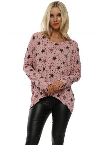 Laura Star Print Clay Long Sleeve Top