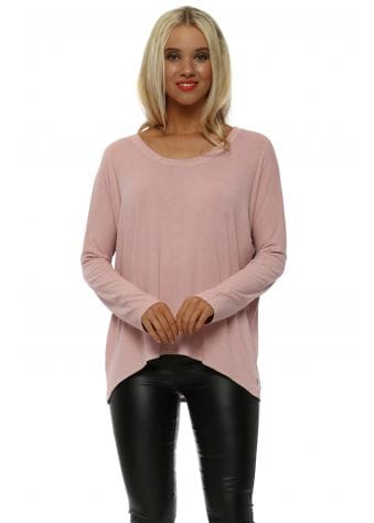 Clay Karma Long Sleeves Slouch Top