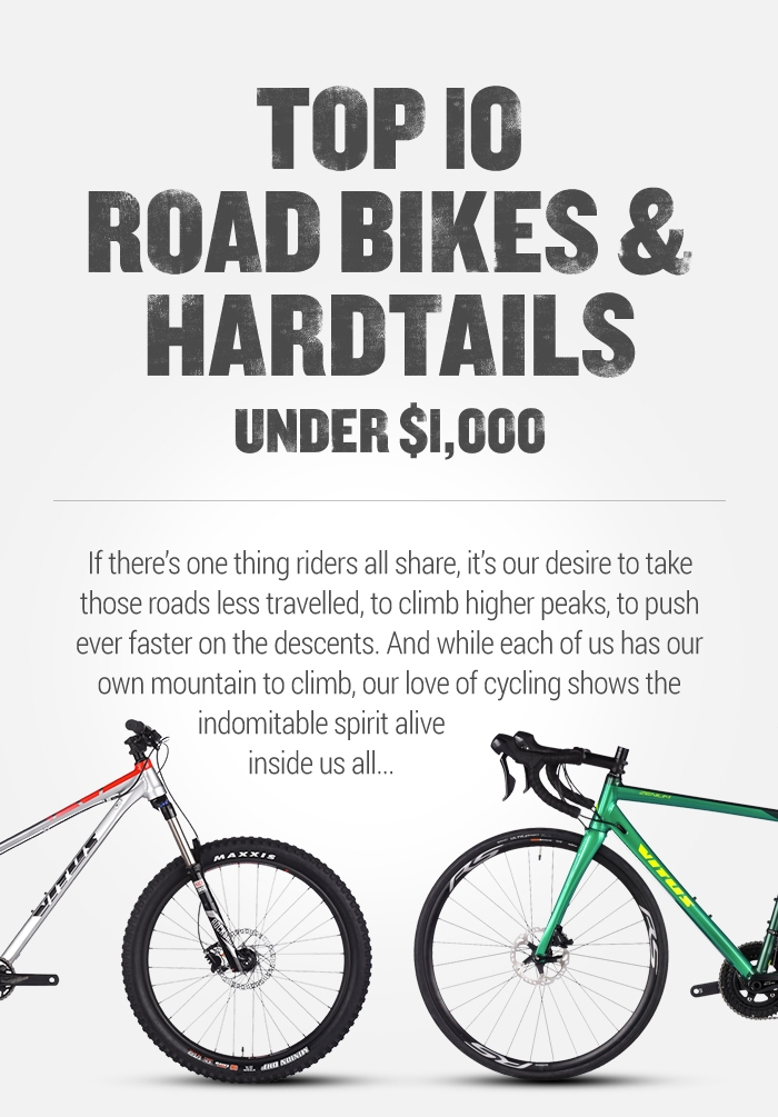 Top 10 Road Bikes & Hardtails