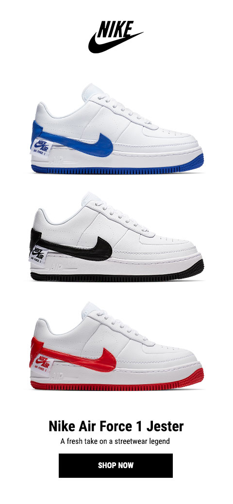 nike air force 1 jester bianche e nere