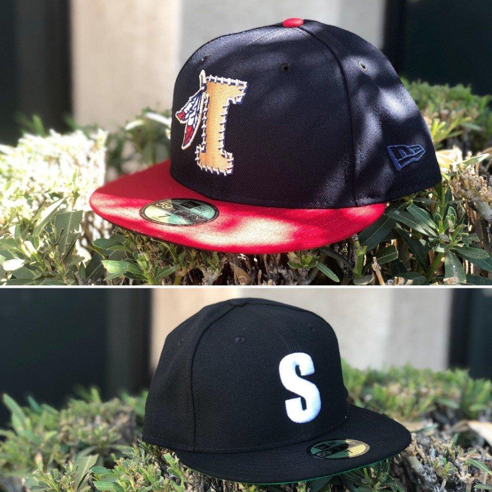 MiLB X Negro League Custom Hats Today we feature a Hat Club custom version  of the popular Kinston Indians alternate logo with Kinston Indians original  ... 96d9c320c
