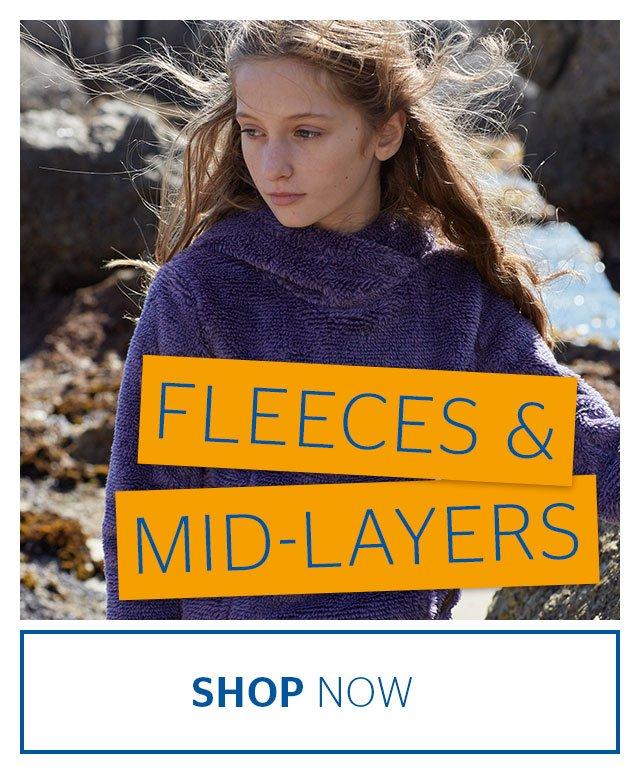fleeces and midlayers