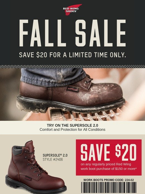 picture relating to Red Wing Boots Coupon Printable named Pink Wing Footwear: Redeem This Coupon: Crimson Wing Hard work Boot