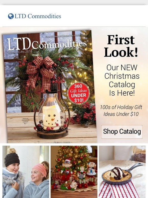 Ltd Christmas Catalog.Ltd Commodities Llc First Look Introducing Our New 2018