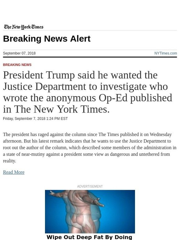 the new york times breaking news president trump said he wanted