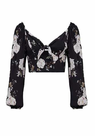 Isabel Co-Ord Tie Front Balloon Sleeve