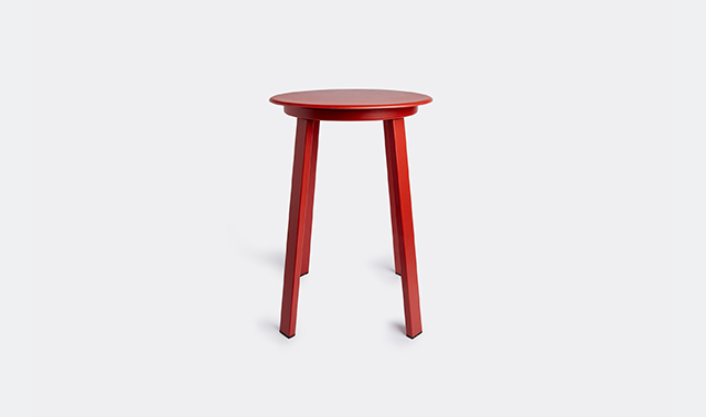 Revolver' stool, red by Hay