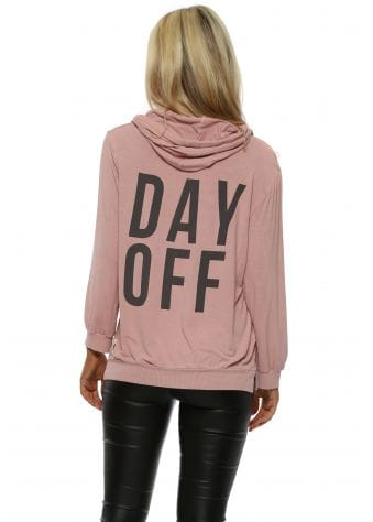 Clay Day Off Puffball Sleeve Hoodie