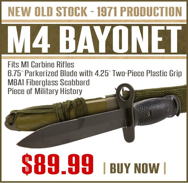 MidwayUSA: Only $89 99 - New Old Production M4 Bayonet with
