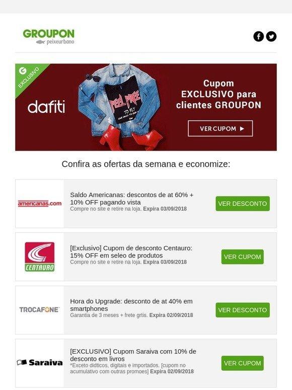 Groupon BR New  Cupons de desconto de até 60% em Dafiti 9859b555aac