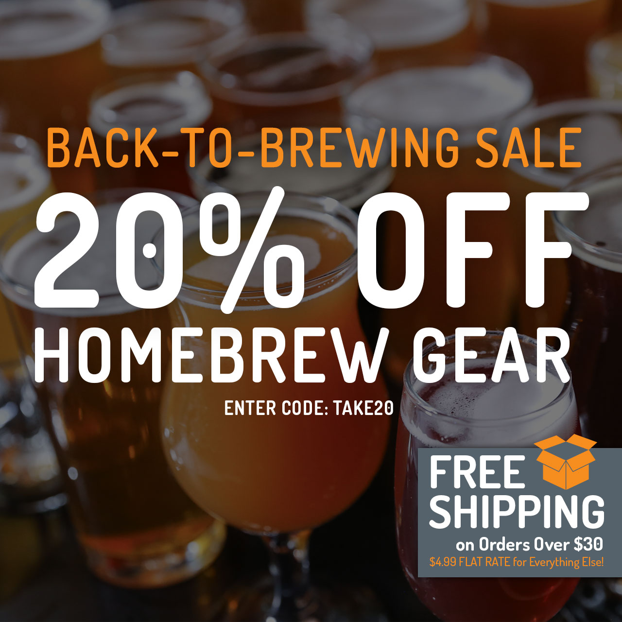 20% Off All Equipment now through 11:59pm CST on 9/16/2018. Use code: TAKE20