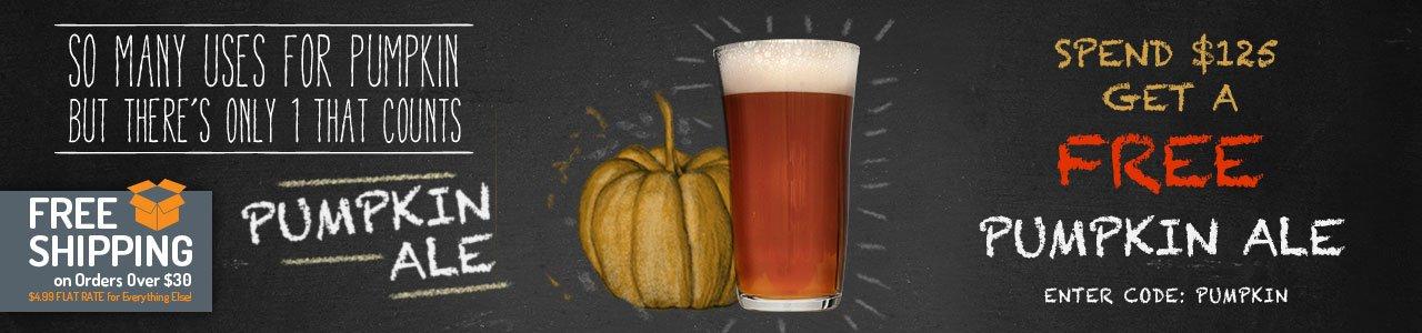 Spend $125, Get a Free Smashing Pumpkin Ale Recipe Kit
