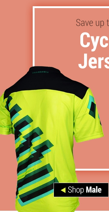 Save up to 50% on Cycling Jerseys - Shop Male