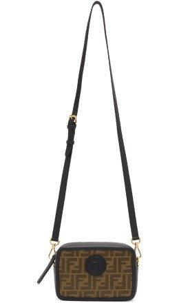 Fendi - Black & Brown Small 'Forever Fendi' Camera Bag