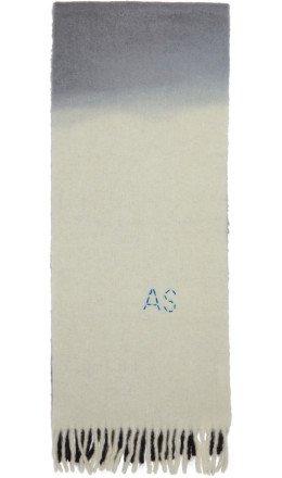 Acne Studios - Black & White Kelow Dye Scarf