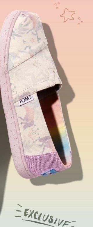 de94d3a2483 TOMS Surprise Sale  Selling fast! UNICORN CLASSICS 🦄 🌈