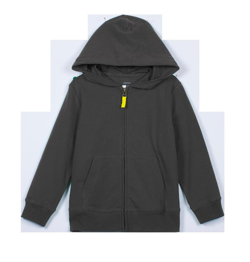 the zip hoodie
