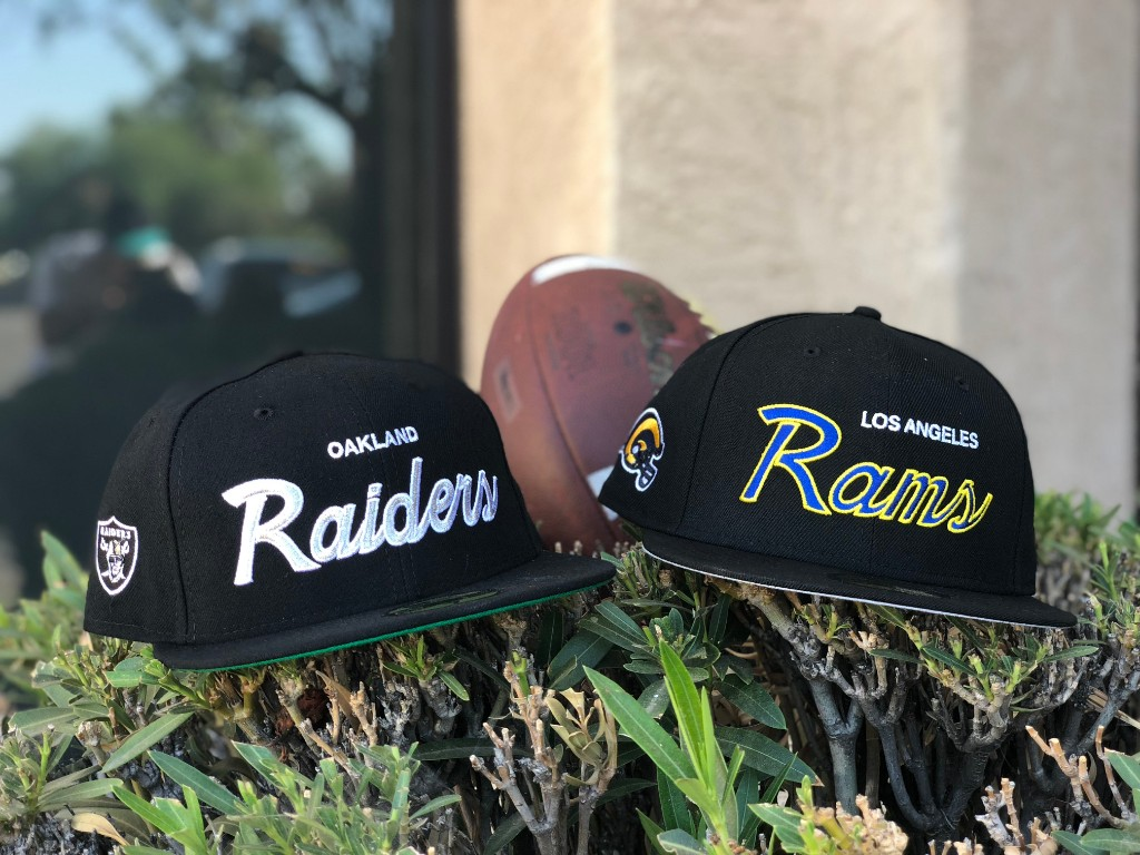 huge discount c79e0 5f9b3 The Oakland Raiders and LA Rams Battle it out tonight on Monday Night  Football. In honor of the game tonight we are dropping two Hat Club  Exclusive ...