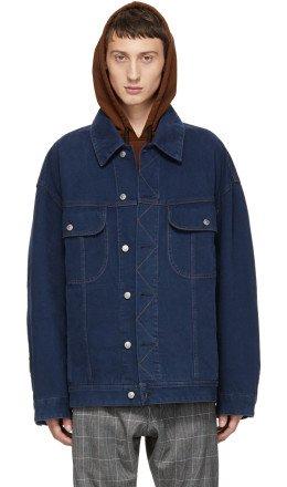 Acne Studios Bl Konst - Blue Oversized Denim Jacket