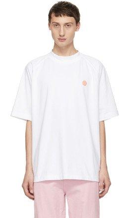 Acne Studios Bl Konst - White Bassetty Uni T-Shirt