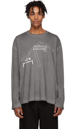 A-Cold-Wall* - Grey 'National Gallery' Long Sleeve T-Shirt