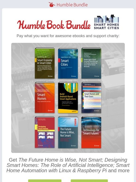 Humble Bundle: It's the the Humble Book Bundle: Smart Homes