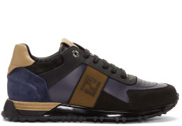 Fendi - Black & Blue 'Forever Fendi' Patch Sneakers