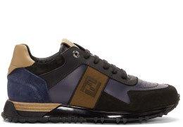 Fendi - Black & Blue 'Forever Fendi' Patch Sneakers