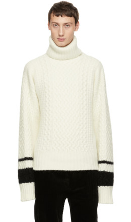 Haider Ackermann - White Borago Turtleneck